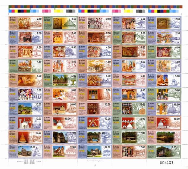 Một bộ tem Phật giáo đáng sưu tập.