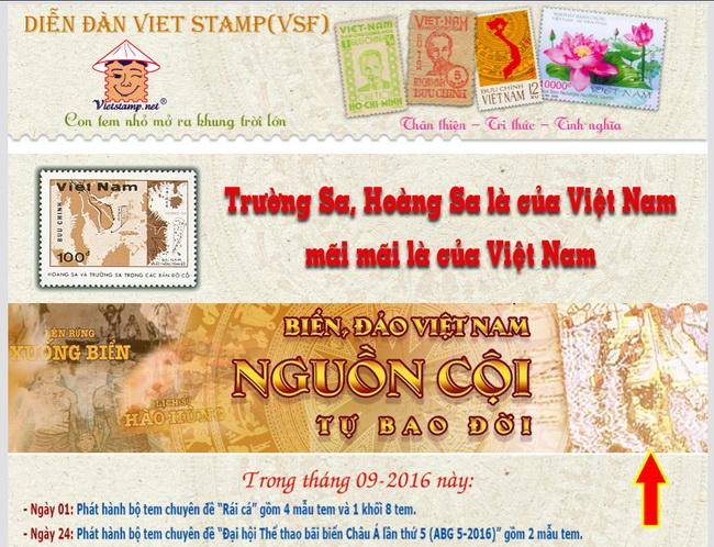 Banner liên kết trên Diễn đàn Viet Stamp.