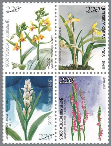 Name:  Korea - Orchid series 5th Aromatic stamps - 2463-2466.jpg Views: 386 Size:  51.0 KB