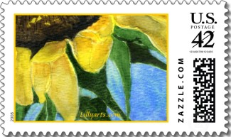 Name:  tl-Sunflower+Painting+Custom+Postage+Stamp.jpg
