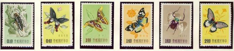 Name:  13 -CHINA TAIWAN 1958 BUTTERFLIES MINT HINGED- 110k.jpg Views: 437 Size:  33.9 KB