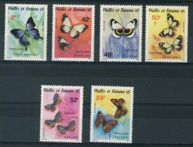 Name:  45- WALLIS FUTUNA 1987 BUTTERFLIES MNH - 160K.jpg Views: 396 Size:  52.5 KB