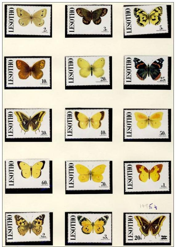 Name:  106 -LESOTHO 1991 TO 3M + SURCHARGE BUTTERFLIES MNH- 415k.jpg Views: 332 Size:  87.4 KB