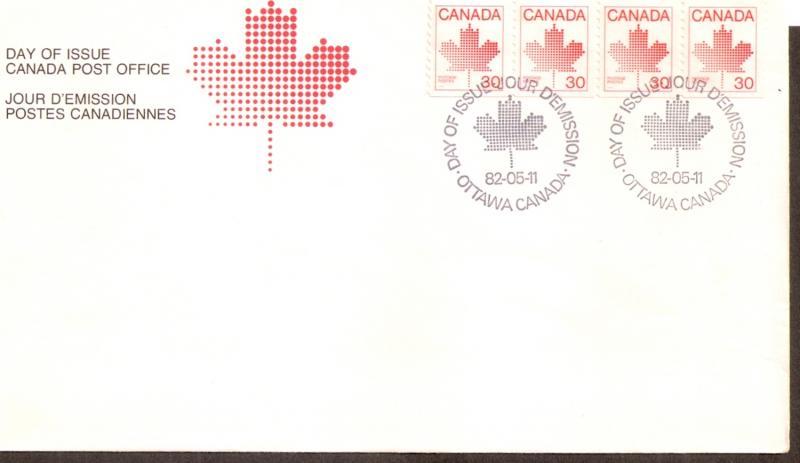 Name:  Canada 0950z FDC Stripof4.jpg Views: 150 Size:  30.9 KB