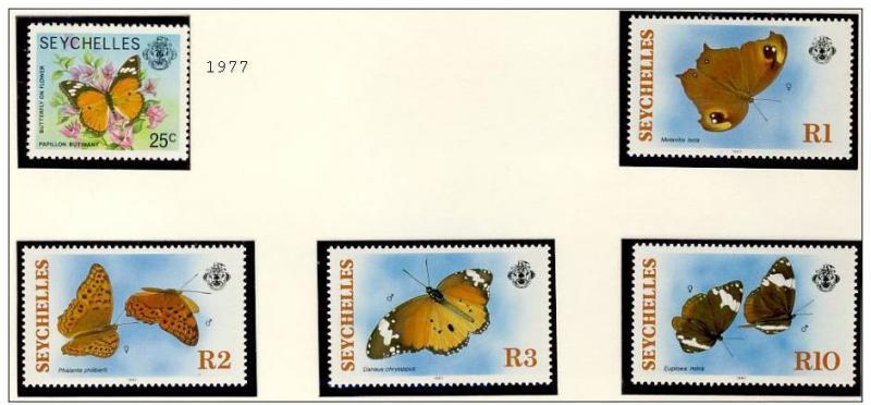 Name:  88 -SEYCHELLES 1977 - 87 BUTTERFLIES MNH - 245k.jpg Views: 340 Size:  49.8 KB