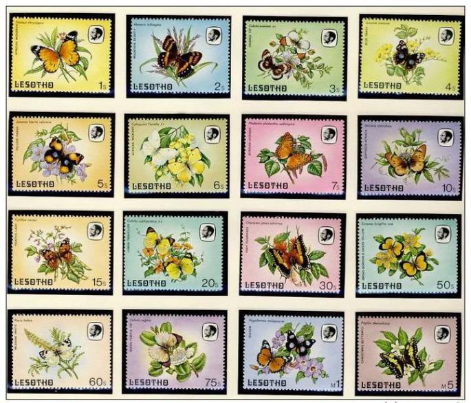 Name:  107- LESOTHO 1984 BUTTERFLIES MNH- 375k.jpg Views: 326 Size:  102.3 KB