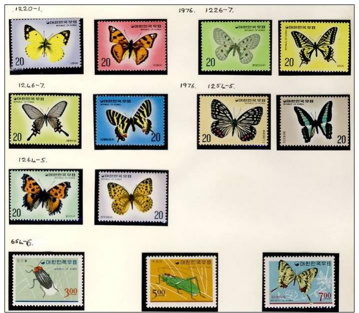 Name:  109 -KOREA SOUTH 1976 BUTTERFLIES 1966 INSECTS MNH- 270k.jpg Views: 328 Size:  82.0 KB