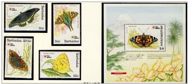 Name:  243-BARBADOS 1991 BUTTERFLIES MNH- 480k.jpg Views: 181 Size:  61.0 KB
