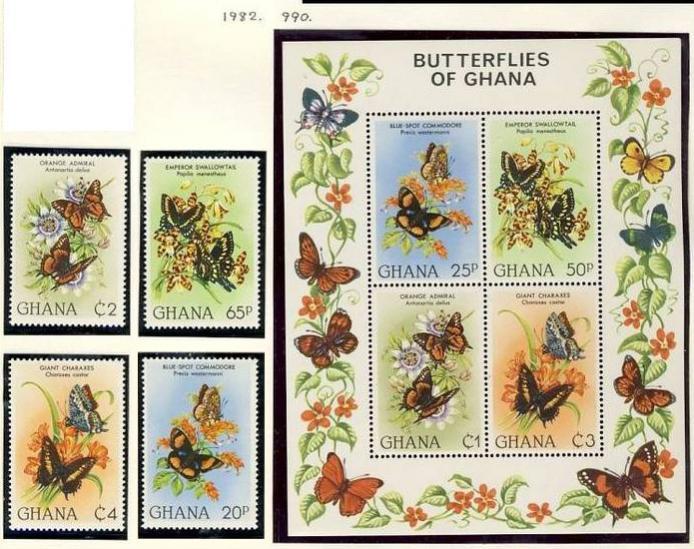 Name:  268 -GHANA 1982 BUTTERFLIES MNH - 370k.jpg Views: 148 Size:  86.0 KB
