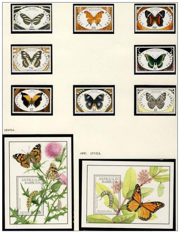 Name:  273-ANTIGUA AND BARBUDA 1991 BUTTERFLIES MNH- 650k.jpg Views: 148 Size:  94.9 KB