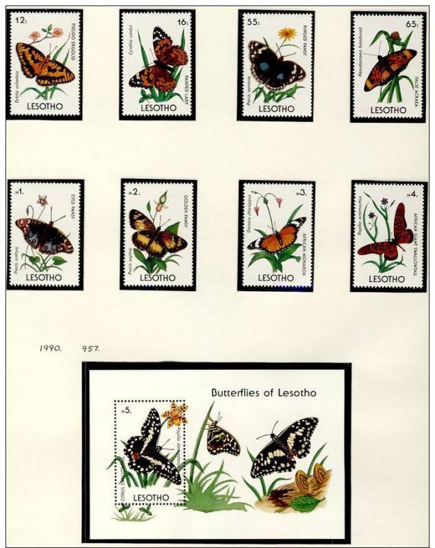 Name:  274- LESOTHO 1990 BUTTERFLIES MNH- 520k.jpg Views: 148 Size:  85.3 KB