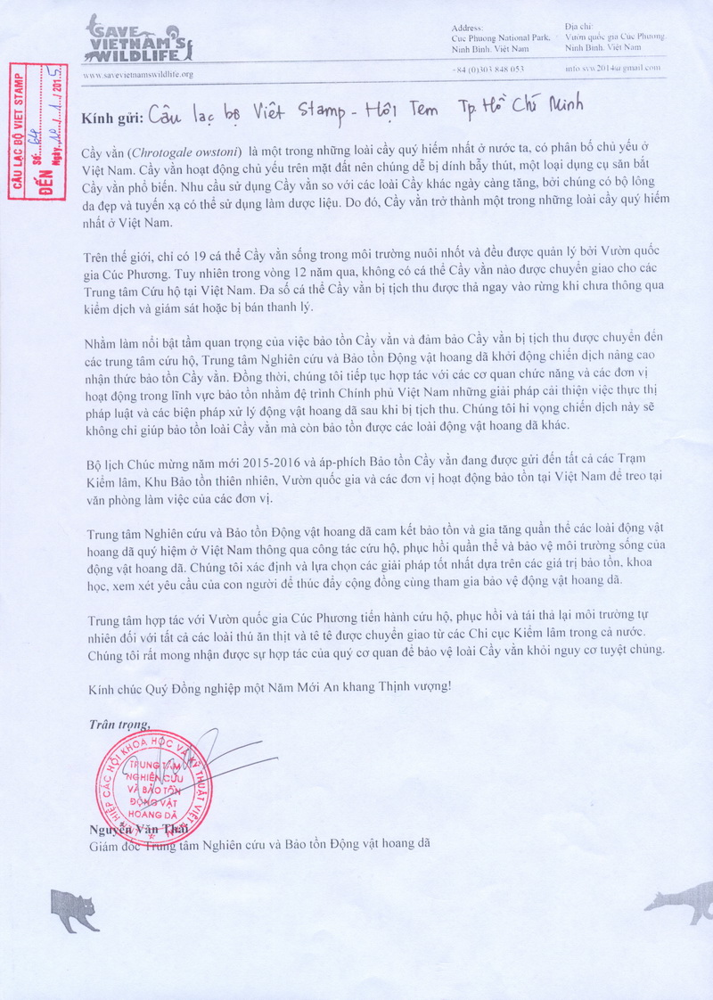 Name:  Thu Save Vietnam Wildlife.jpg Views: 176 Size:  300.8 KB