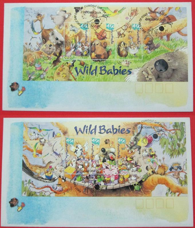 Name:  427- FDC AUSTRALIA WILD BABIES 2003 - 150K.jpg Views: 229 Size:  99.5 KB