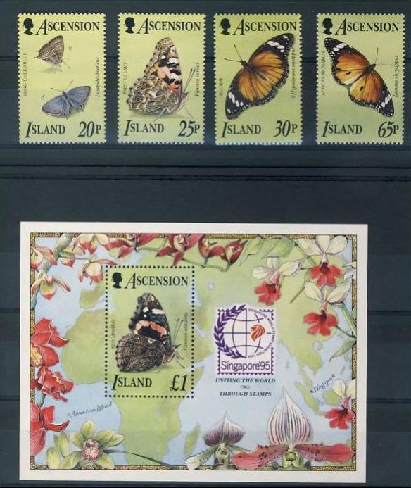 Name:  238 -ASCENSION 1995 BUTTERFLIES MNH - 490K.jpg Views: 181 Size:  74.9 KB