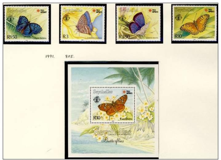 Name:  248 -SEYCHELLES 1991 PHILA NIPPON BUTTERFLIES MNH- 475k.jpg Views: 164 Size:  52.4 KB
