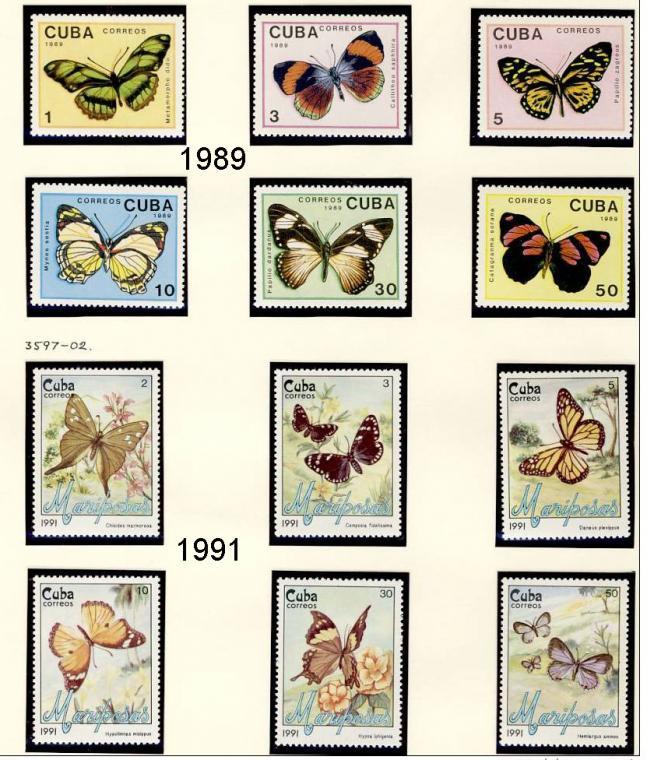 Name:  251-1-CUBA 1982 - 97 BUTTERFLIES MNH- 490k.jpg Views: 147 Size:  102.3 KB