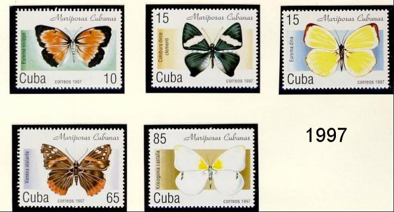 Name:  251-3CUBA 1982 - 97 BUTTERFLIES MNH- 490k.jpg Views: 143 Size:  58.6 KB