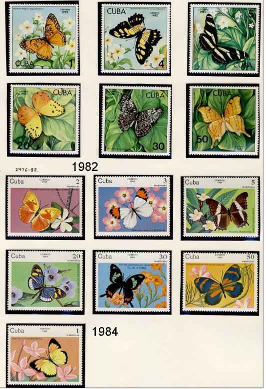 Name:  251-CUBA 1982 - 97 BUTTERFLIES MNH- 490k.jpg Views: 143 Size:  102.1 KB