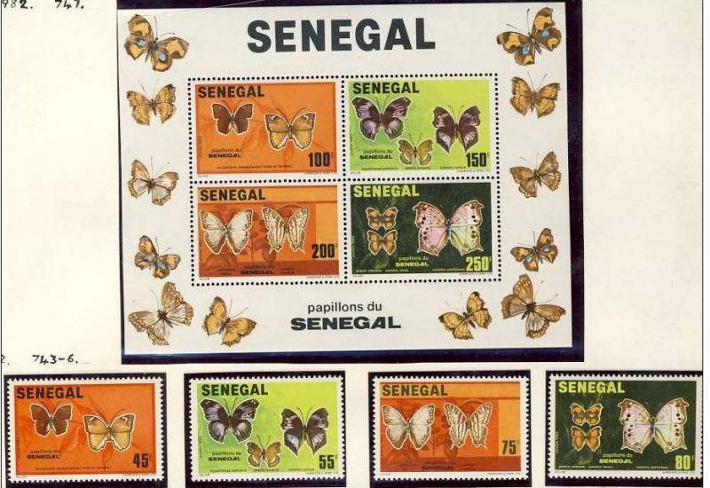 Name:  264-SENEGAL 1982 BUTTERFLIES MNH - 450k.jpg Views: 146 Size:  85.3 KB