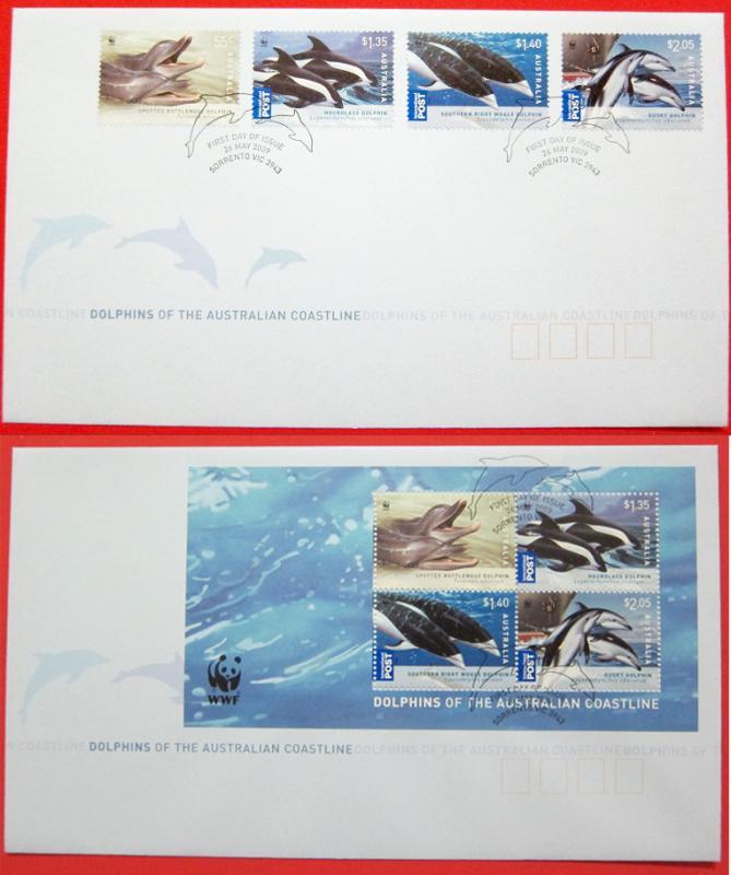 Name:  414-AUSTRALIA WWF 2009 FDC with Dolphins sheet - 150K.jpg Views: 220 Size:  60.2 KB