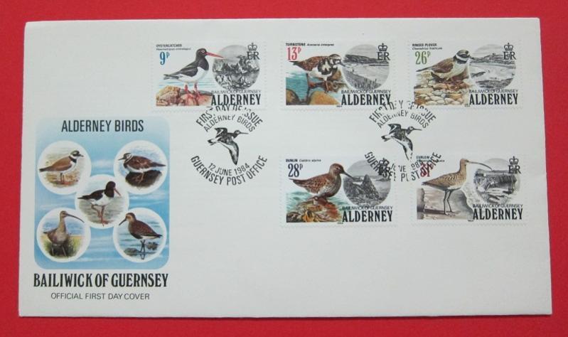 Name:  410- FDC BIRDS ALDERNEY 1984 - 85K.jpg Views: 219 Size:  47.5 KB